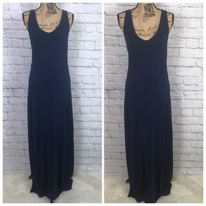 Lou & Grey Navy Tank Maxi Dress V Neck Sz Medium